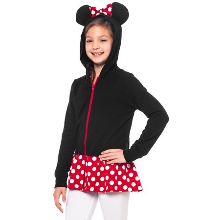 Minnie Mouse Girls Zip Costume Hoodie Jacket w/ Ears for $<!---->