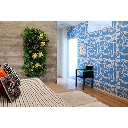 7-Pocket Vertical Wall Garden Planter - Ideal For Covering Large Outdoor Wall