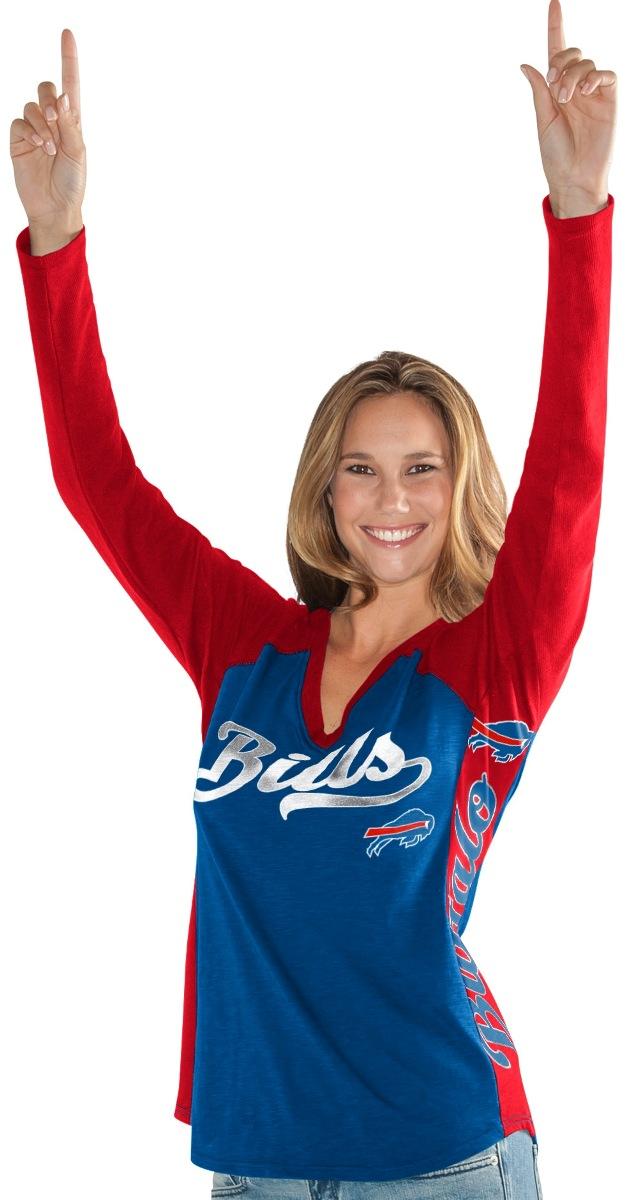 "Buffalo Bills Women's G-III NFL ""Stadium"" V-neck Long Sleeve T-shirt by G-III Sports"