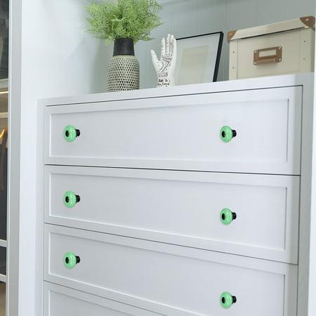 Ceramic Knob Pull Handle Furniture Dresser Wardrobe Cabinet Accessory 8pcs Green - image 3 de 7