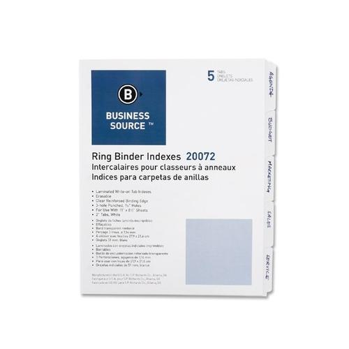 Business Source 3-Ring Plain Index Divider BSN20072