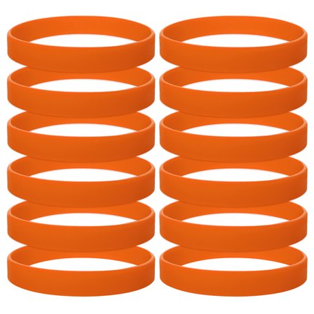 - 10 Dozen Silicone Wristbands, Adult-size Rubber Bracelets, Great For Event-Orange