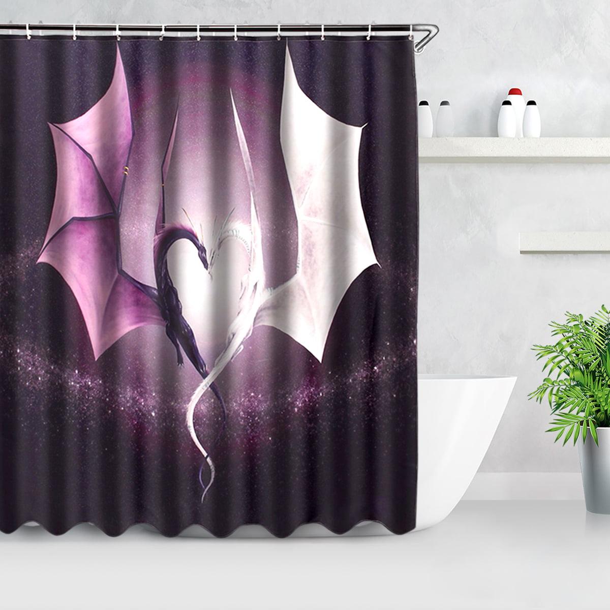60 X 72 Inch Fashion Custom Print Dragon Waterproof Bathroom Fabric Polyester Fiber Washable Shower Curtain Valance With 12 Hooks Walmart Com Walmart Com