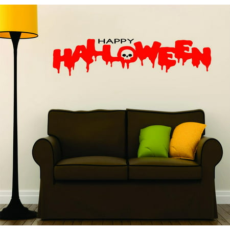 Do It Yourself Wall Decal Sticker I Love Monsters Halloween Holiday Skull Skeleton Seasonal Decoration Sign 20x40