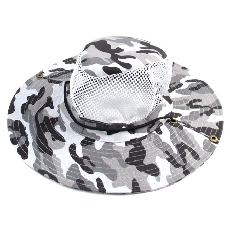 Men hiking fishing wide brim military camouflage sun hat for Fishing hats walmart