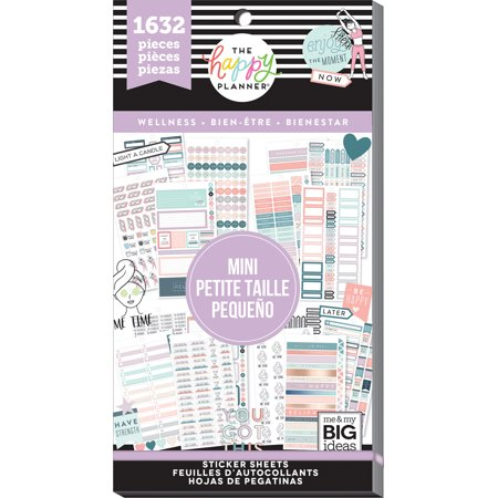 The Happy Planner - Value Pack Stickers - Mini Wellness