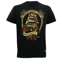 2e28890c50bf Product Image Sailor Jerry Tattoo Mens Voyage Homeward Slim Fit T-Shirt  Black