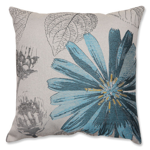 Pillow Perfect 524702 Blue Daisy 18-inch Throw Pillow