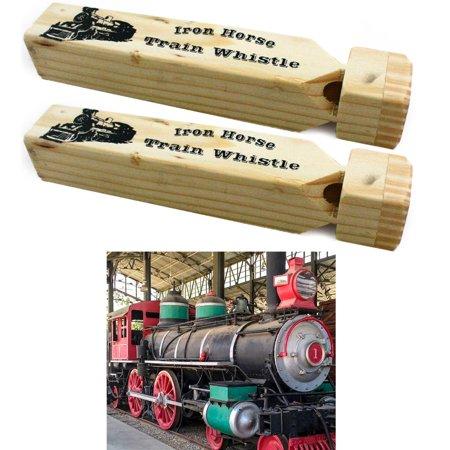 2 x Train Whistle Wooden Iron Engine Sound 7
