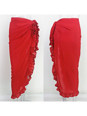 Women Swimwear Bikini Beach Wear Cover Up Swimsuit Wrap Skirt Sarong Dress