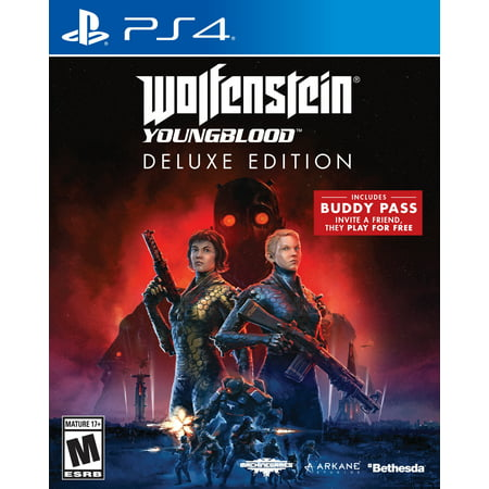 Wolfenstein Youngblood Deluxe Edition, Bethesda Softworks, PlayStation 4, 093155174795