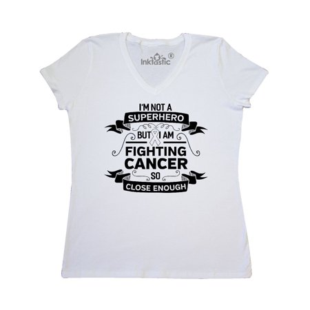 Lung Cancer Super Hero Women's V-Neck (Superhero T Shirts Women's)