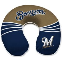 Milwaukee Brewers Wave Memory Foam Travel Pillow