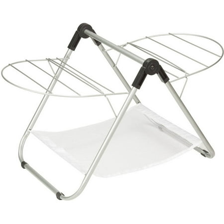 Honey Can Do Folding Nylon Tabletop Drying Rack, Silver/White (Tabletop Drying Rack)