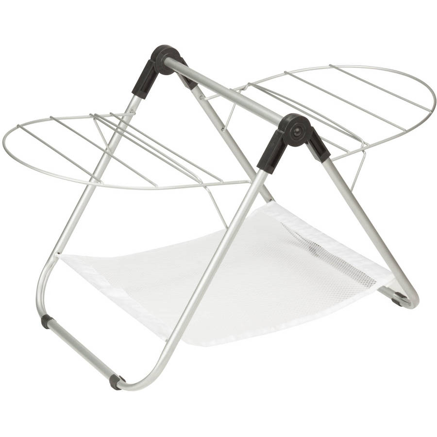 Honey Can Do Folding Nylon Tabletop Drying Rack, Silver/White