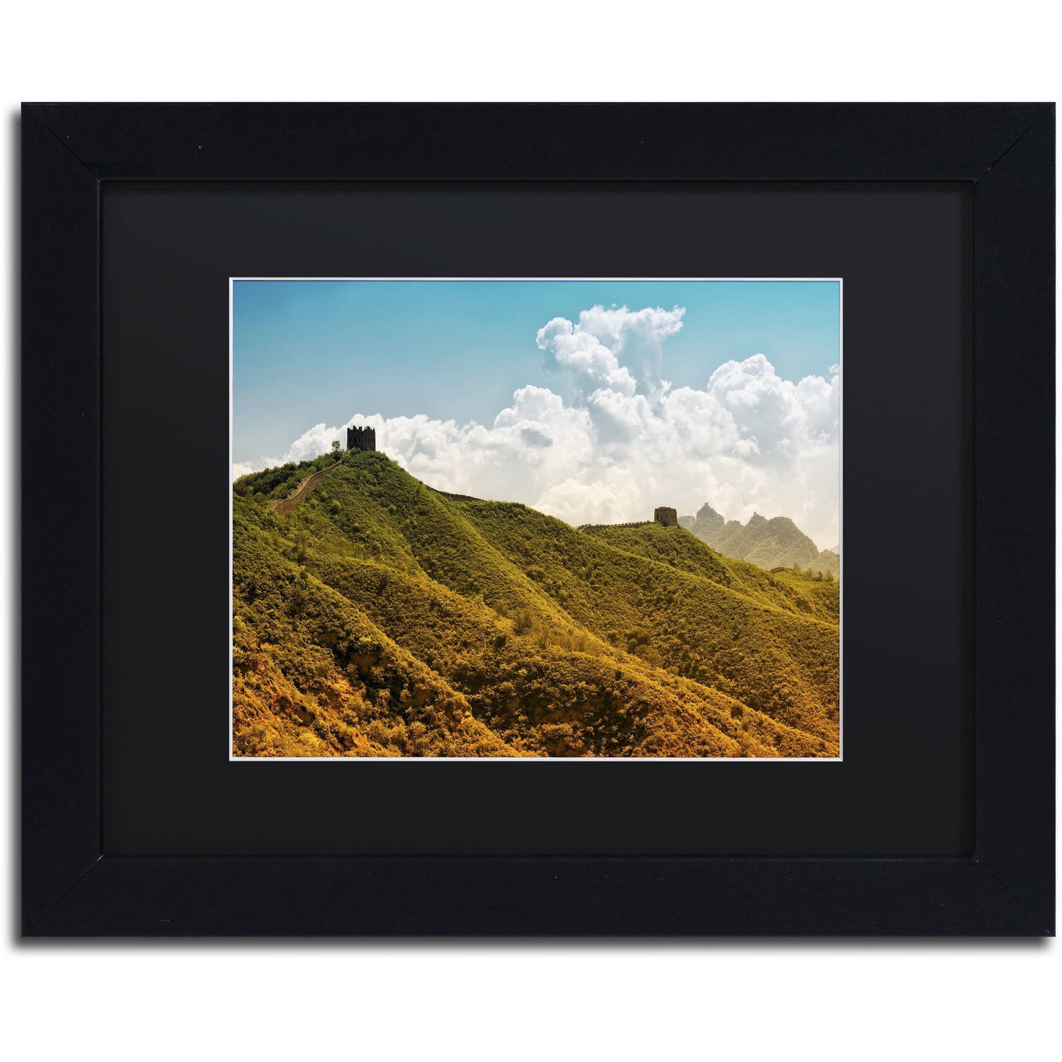 "Trademark Fine Art ""Great Wall II"" Canvas Art by Philippe Hugonnard, Black Matte, Black Frame"