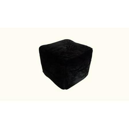 Ace Bayou Faux Fur Pouf In Ebony Black Ottoman From 4040 Nextag Cool Faux Fur Pouf Ottoman