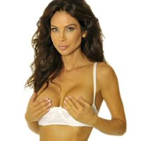 49e30012e29 Product Image Empire Intimates Jacquard Shelf Bra Open Cup Show Nipples -  BLACK - Size 34