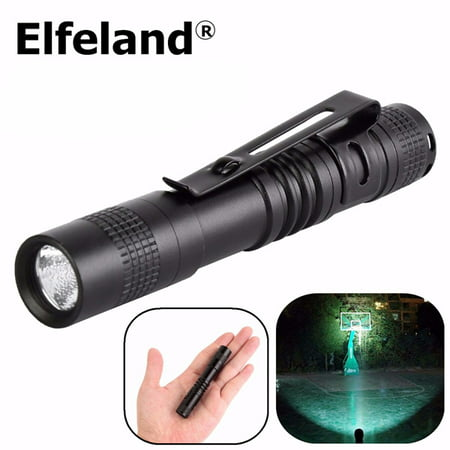 LED Mini R3 9cm Penlight Flashlight Torch Portable Pocket Flashlight Lighting Lamp Light Outdoor Camping Sports (Mini Two Aaa Cell Flashlight)