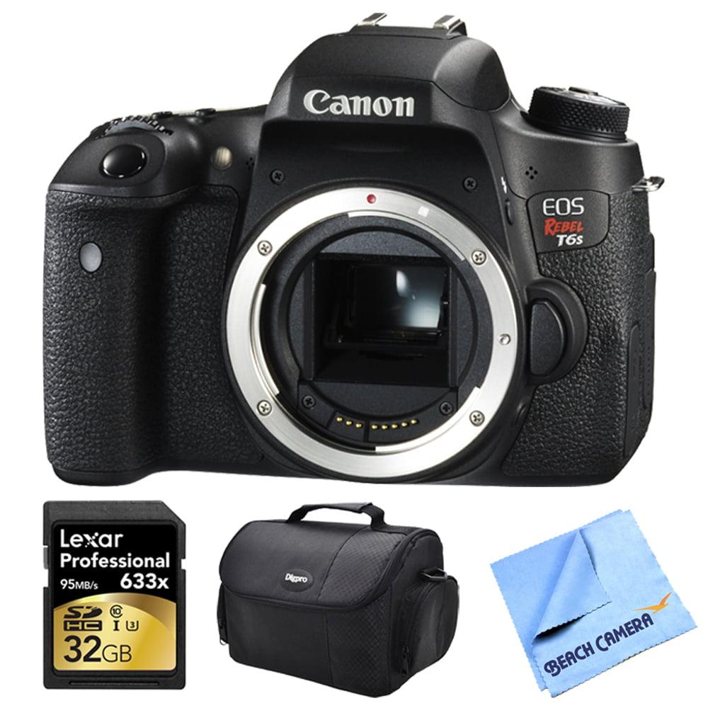 Canon EOS Digital Rebel T6s 24.2MP SLR Digital Camera Bun...