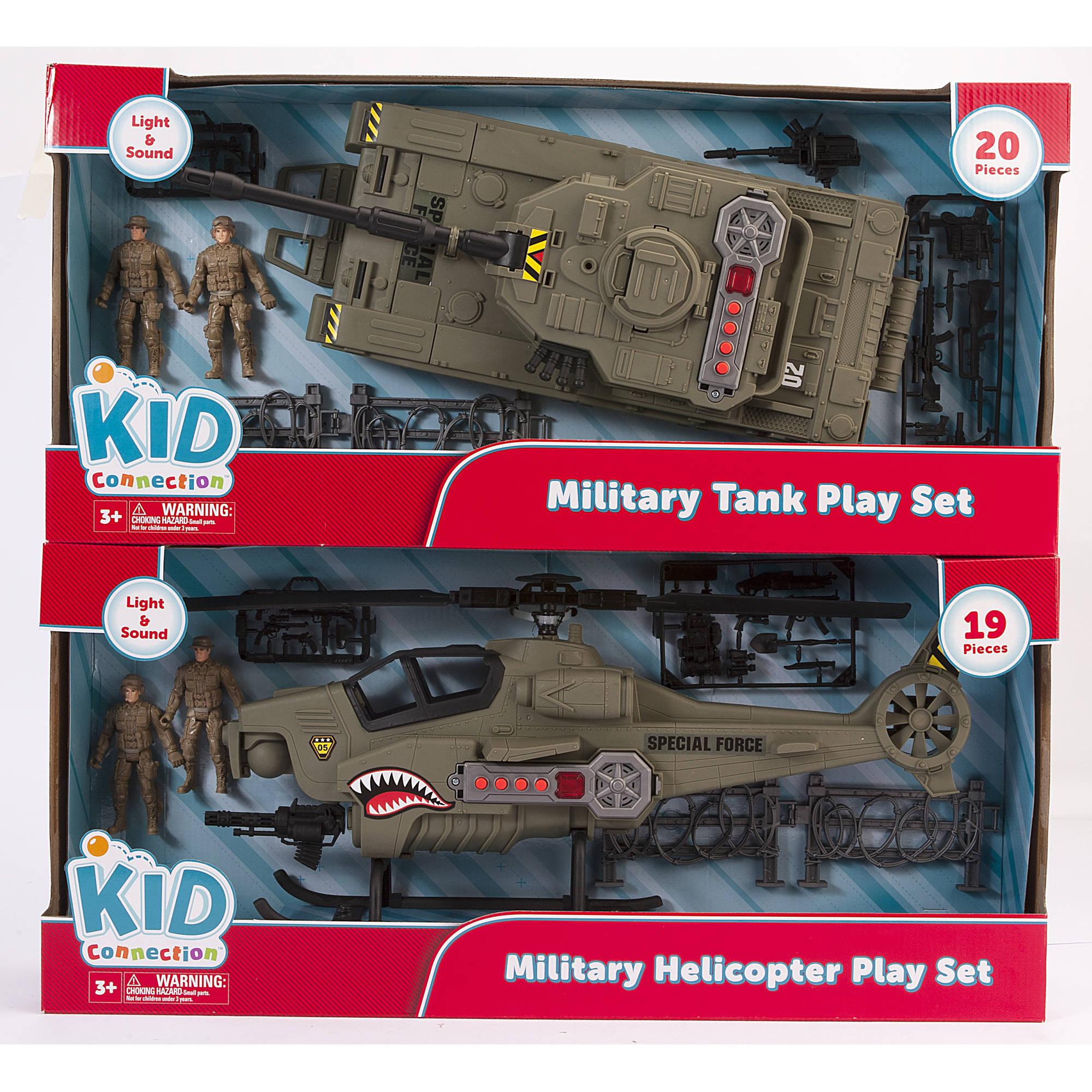 Kid Connection Military Tank and Helicopter Play Set