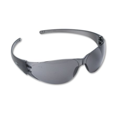 MCR Safety Checkmate Wraparound Safety Glasses, Clear Polycarbonate Frame, Gray