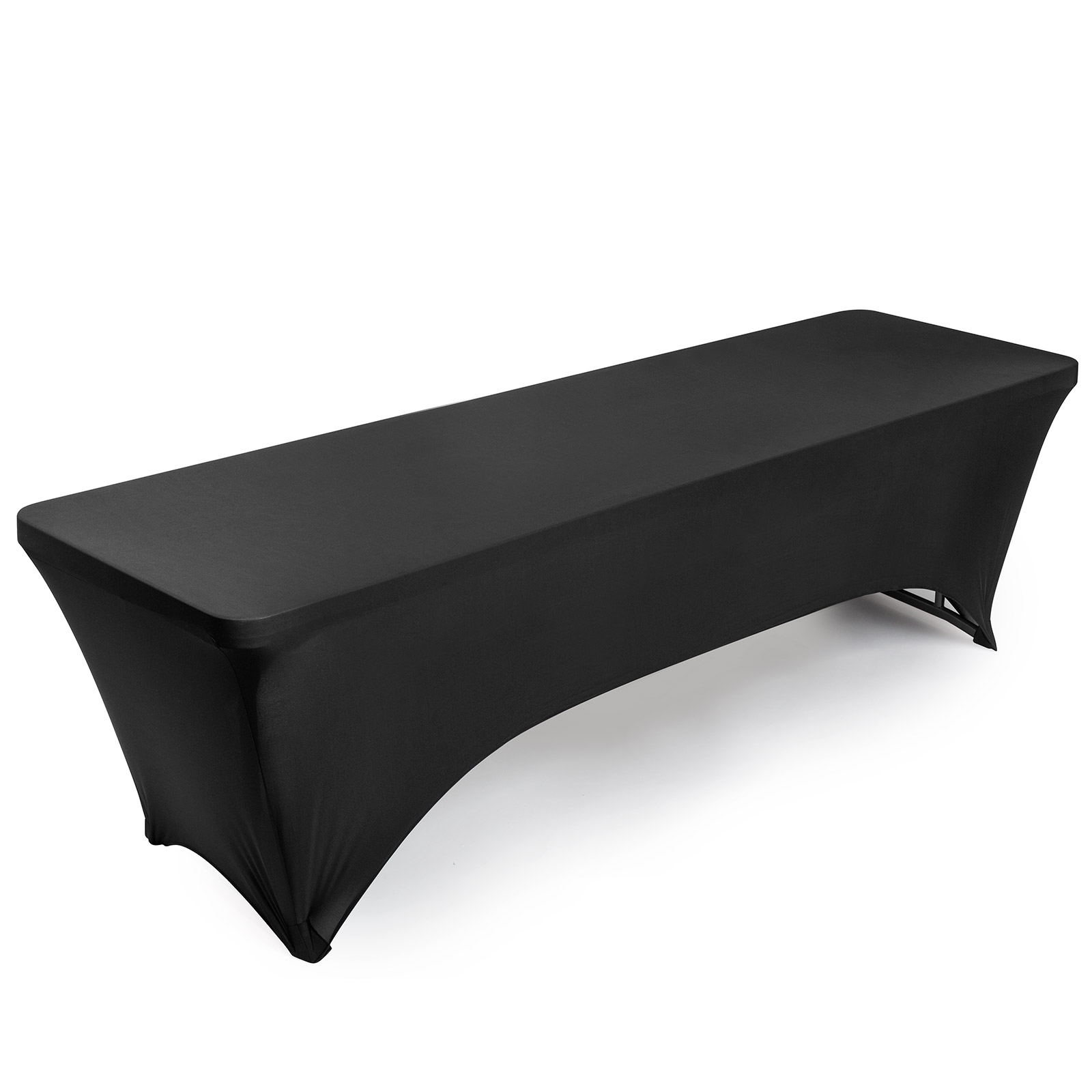 Many Colors /& Sizes Fitted Spandex Stretch Fabric Tablecloth Cover