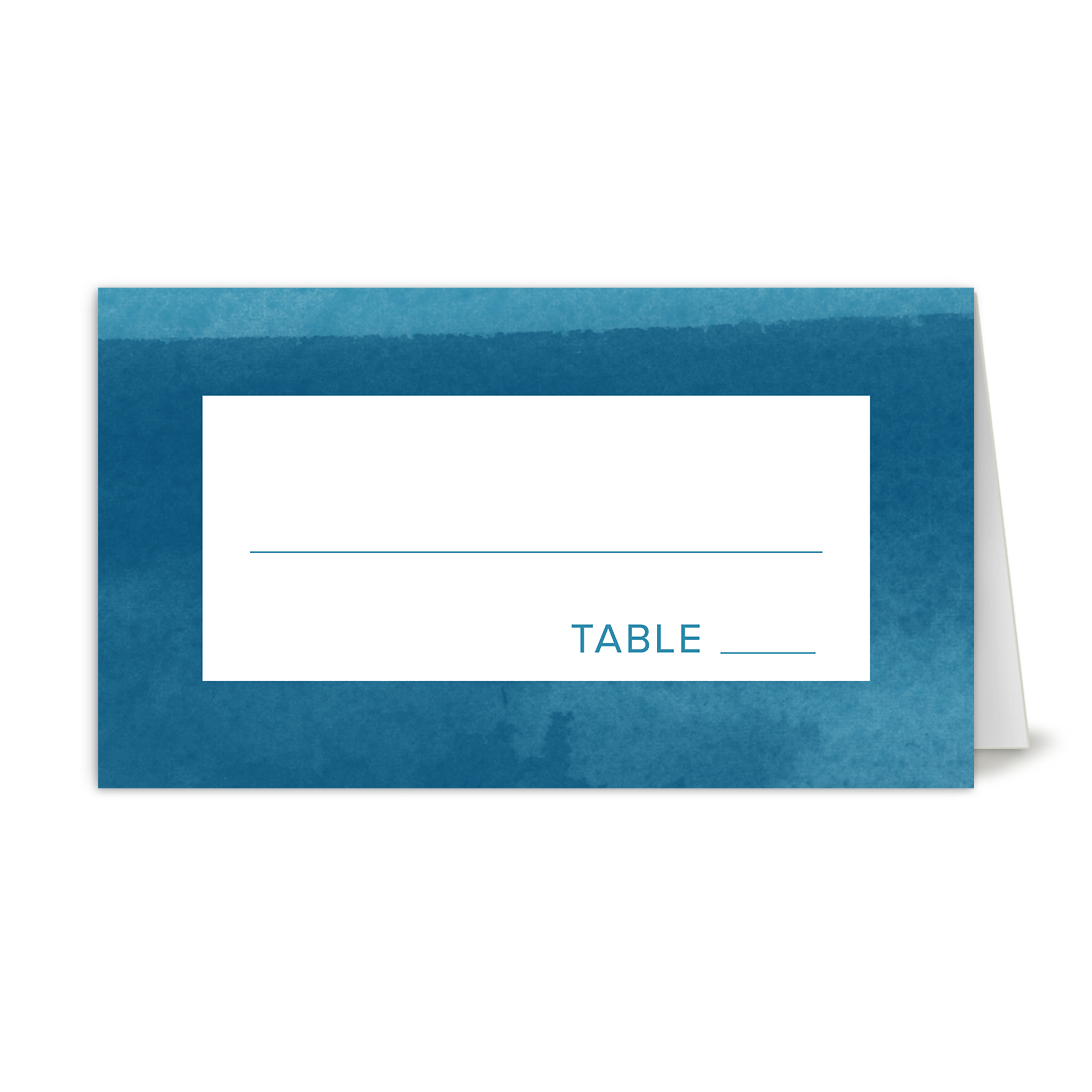 Personalized Wedding Place Card - We Do - 3.5 x 2 Folded