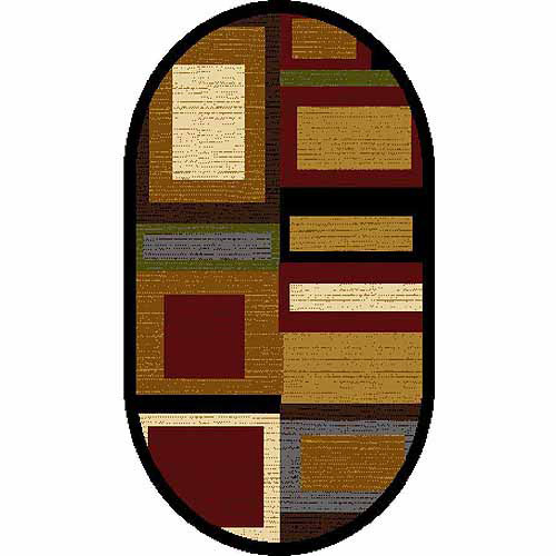 home dynamix royalty collection oval area rug multired