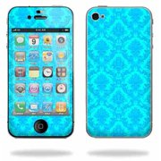 Mightyskins Apple iPhone 4 or iPhone 4S AT&T or Verizon 16GB 32GB Cell Phone wrap sticker skins Blue Vintage