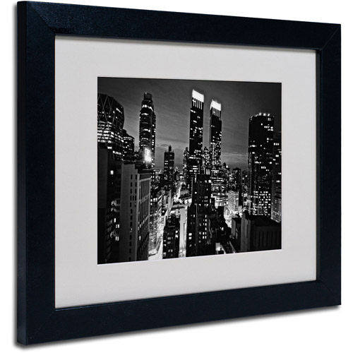 "Trademark Fine Art ""Follow the Lights"" Matted Framed Art by Ariane Moshayedi, Black Frame"