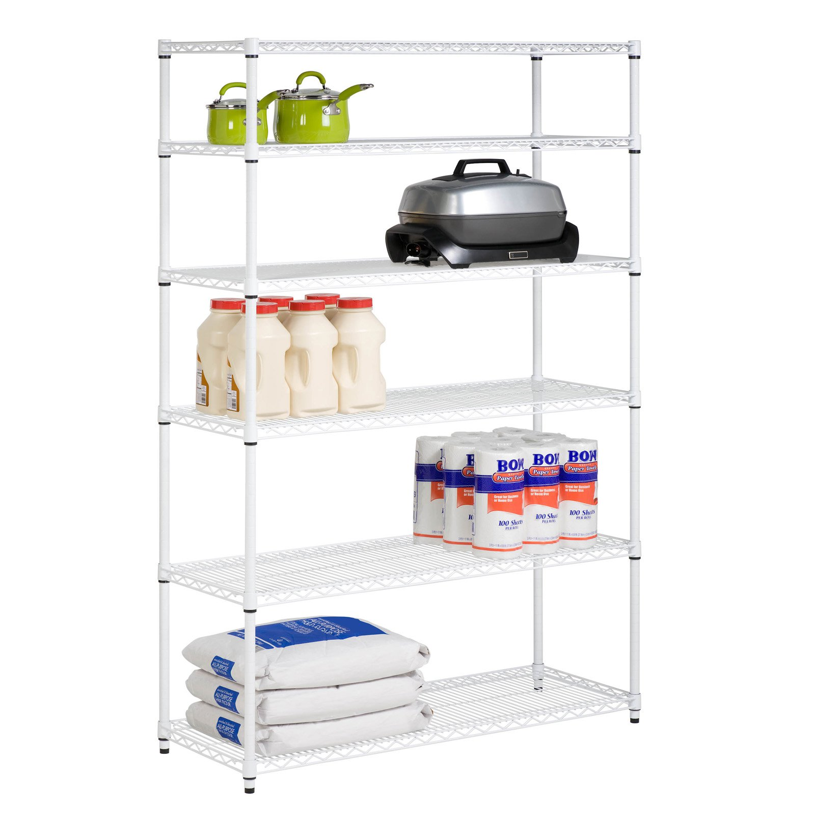 Honey Can Do 6-Shelf Steel Storage Shelving Unit, Multicolor