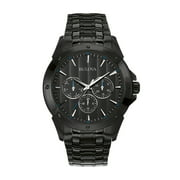 Bulova Men's Black Finish Watch 98C121