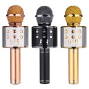 Manfiter Wireless Bluetooth Karaoke Microphone,3-in-1 Portable Handheld karaoke Mic Speaker Machine Christmas Birthday Home Party for Android/iPhone/PC or All Smartphone