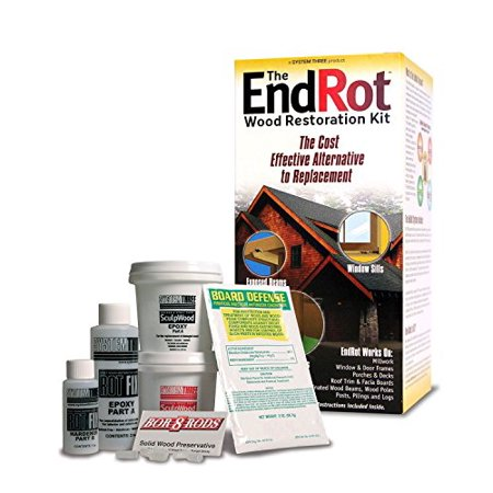 - Window and Door Rot Repair Kit - Preservative & Epoxy Wood Restoration System