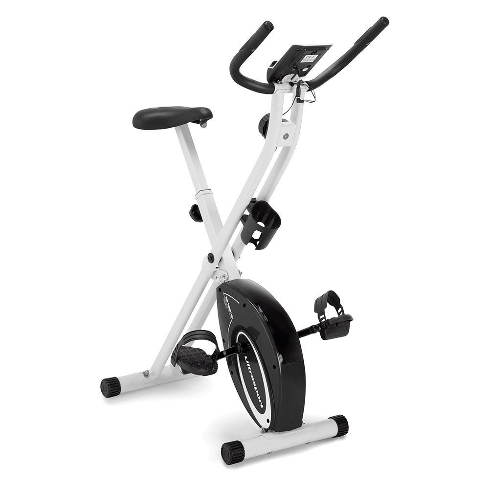 Marcy Foldable Upright Exercise Bike with Adjustable Resistance - NS-5962B - Black