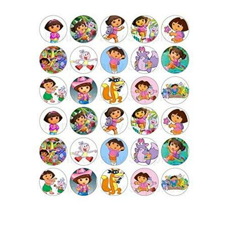 30 Dora the Explorer Edible Frosting Cupcake Toppers* - Dora Cakes