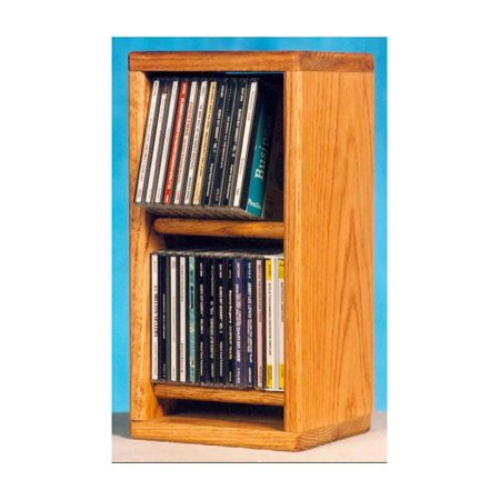 Dowel CD Storage Rack (Honey Oak)