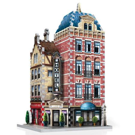 Wrebbit 3D Urbania Hotel 3-D Jigsaw Puzzle 3 D Jigsaw Puzzles