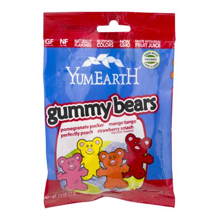 YumEarth gommeux ours, 2,5 OZ
