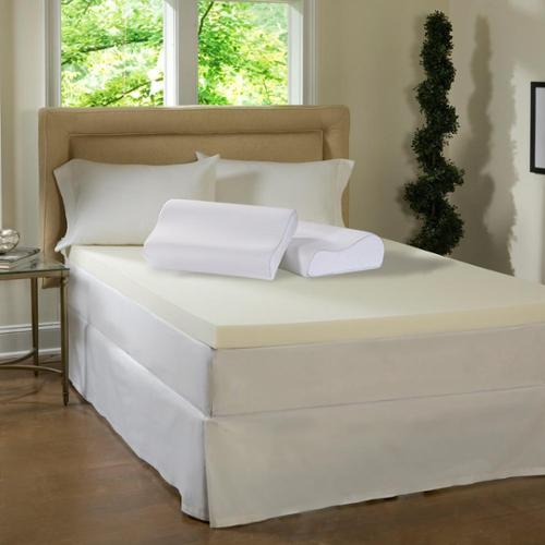 Simmons Beautyrest Beautyrest 4-inch Memory Foam Topper with Contour Pillow(s) by Overstock