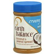 (3 Pack) Earth Balance Coconut & Peanut Spread, Creamy, 16 Oz