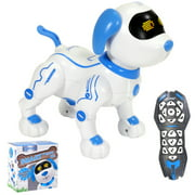 Contixo R3 Robot Dog, Walking Pet Robot Toy Robots for Kids, Remote Control, Interactive Dance, Voice Commands, RC Toy Dog for Boys and Girls (Blue)