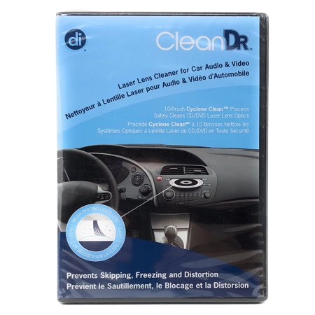 CD Lens Cleaner for Car Audio and Video with 10-Brush Cyclone Clean Process Cd Drive Lens Cleaner