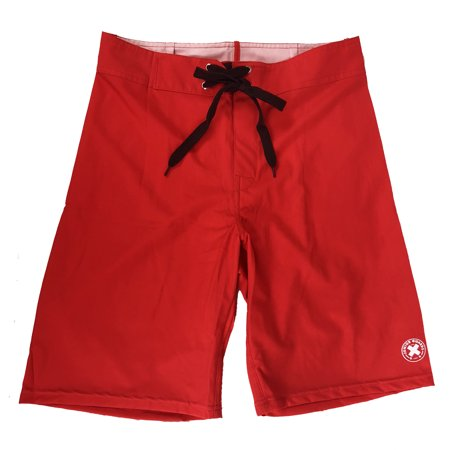 Kids Rex Com (Juniorguards.com  Boardshort Swim Trunks - Red -)