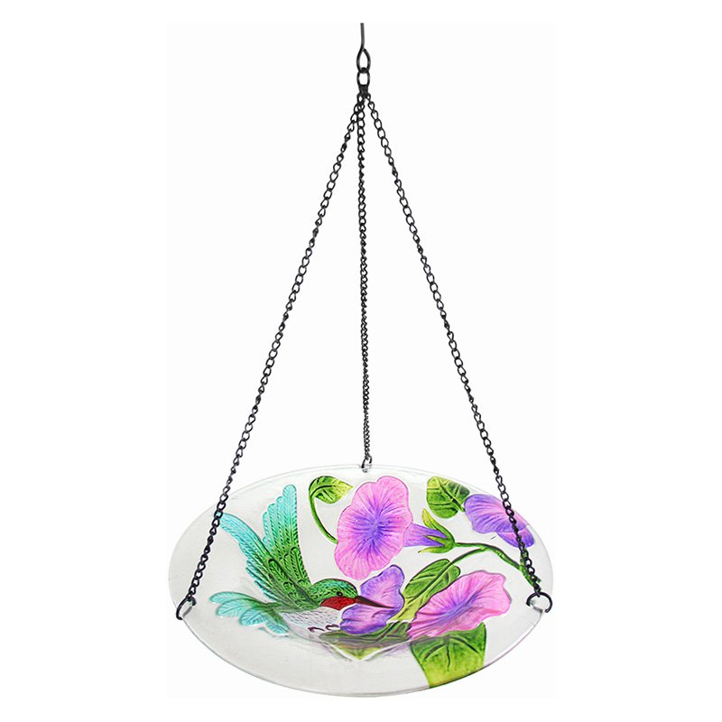 Exhart Hummingbird Hanging Glass Birdbath by Birdbaths