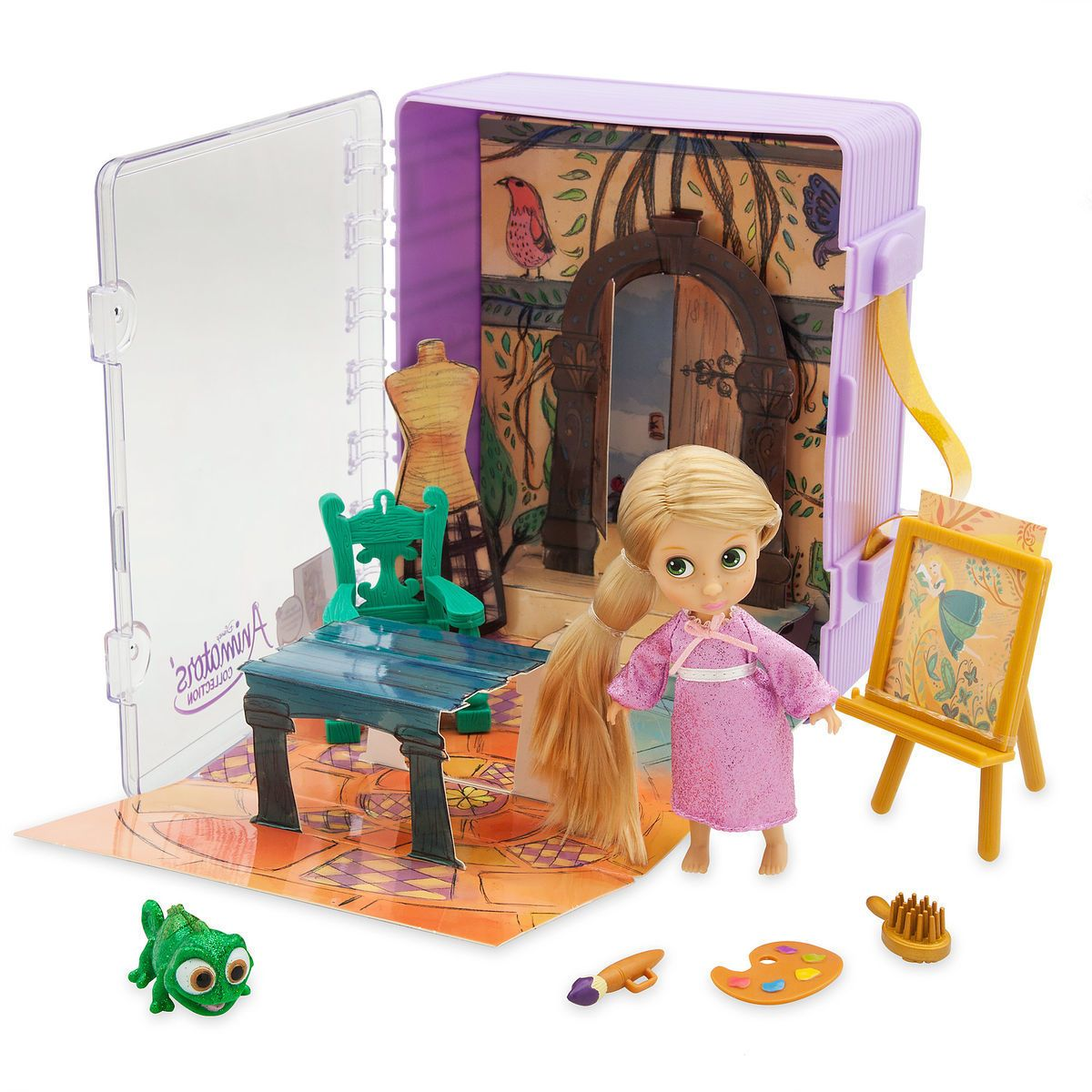 Disney Animators' Little Collection Rapunzel Mini Doll Playset Tangled New