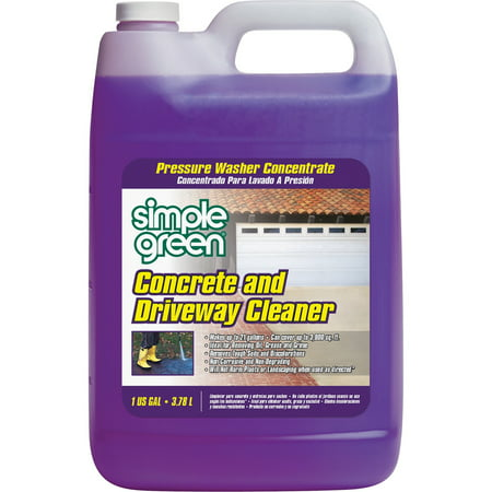 Simple Green, SMP18202, Concrete/Driveway Cleaner Concentrate, 1 Each, (Best Salt For Concrete Driveway)