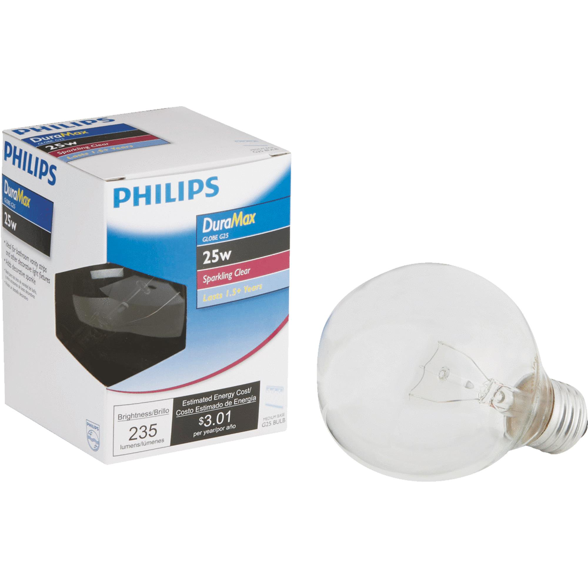 Philips DuraMax Medium G25 Globe Light Bulb