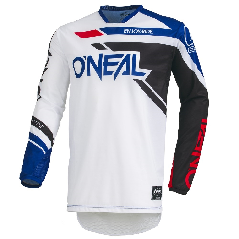 /'ONEAL HARDWEAR MOTOCROSS MX NECK BRACE JERSEY shirt WHITE RED BLACK RRP £49.95/'